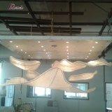 Lustre décoratif de conception de voile léger pour projet d'hôtel