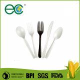 100% de plástico descartável compostável biodegradáveis CPLA talheres