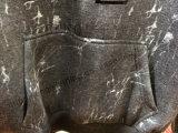 Carta Imprimir Vestuário Cardigans Cinzento com Capuz em Roupa Masculina Fw-8730