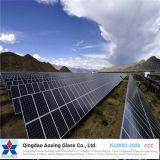 Vidrio solar Tempered del hierro inferior para el panel fotovoltaico