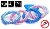 EVA 두 배 색깔 자연적인 모기 방수제 팔찌