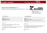 Blocco per grafici ottico Handmade dell'acetato di modo con Ce e FDA