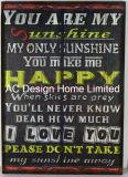 워드 디자인 직사각형 MDF 나무로 되는 서류상 전사술 벽 장식 패