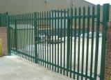 Acero galvanizado en caliente Palisade Puerta de seguridad cercos