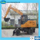 China-Marken-Aufbau-Maschinerie-Rad-hydraulischer Gräber/Exkavator