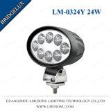 Le témoin Auto LED étanche ronde voiture phare de travail LED 12V 24W 4.3 pouce