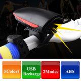 Bicicletta ricaricabile dell'istantaneo dell'indicatore luminoso della testa del faro del USB del LED