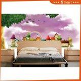 ピンクの花壁の壁紙または油絵の居間のカスタム壁の装飾のステッカー