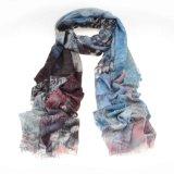 Nieuwe Ontwikkelde Digitale Afgedrukte In water oplosbare Sjaal 14-Br420301-1 van het Kasjmier