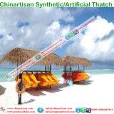 Естественный смотря зонтик Thatch листьев ладони Thatch пожаробезопасного водоустойчивого синтетического Thatch искусственний