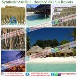 Tiki 바를 위한 자연적인 보기 종려 합성 이엉 또는 Tiki 오두막 합성 지붕을 짚으로 인 초막 물 방갈로 비치 파라솔 26