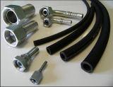 SAE100 R2at boyau tressé en caoutchouc de pression de fil d'acier de 2 plis