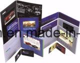 """1.8 """" aan 10.1 """" LCD de VideoKaart van de Gift van de Groet van de Brochure"""