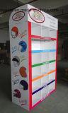 Eco - de Vriendschappelijke enig-Opgeruimde Tribunes van de Vertoning van de Pallet van het Karton Kleinhandels voor Helmen polijsten Gelamineerd
