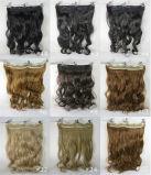 新しい方法完全なヘッドクリップCurly/Wavy女性の総合的な毛の拡張さまざまなカラー