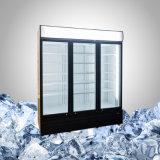 Un frigorifero dei 3 portelli per visualizzazione commerciale