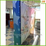 Индикация торговой выставки печатание ткани напряжения хлопает вверх стойка