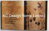Het antieke Art. van de Muur van de Vorm van het Boek van het Ontwerp Pu Leather/MDF van de Bloem Houten