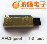 De populaire Gouden Aandrijving van de Flits van het Metaal USB van de Staaf (om-M104)