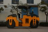 China 6 Tonnen-mechanische doppelte Trommel-Vibrationsstraßen-Rolle