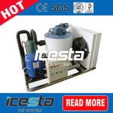 Salzwasser-Flocken-Eis-Hersteller-Maschine mit PLC-Controller für Fischerboot