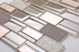 Fácil mezcla de diseños de cuarto de baño de color Mosaico de vidrio
