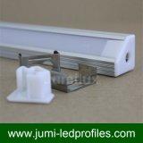 Profilo di alluminio della baia d'angolo LED per l'indicatore luminoso del nastro del LED