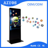 Hoge Helderheid LCD van het Scherm van de Aanraking van 43 Duim de BinnenTotem van de Kiosk van de Reclame