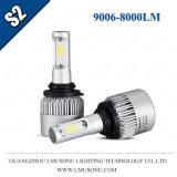Lmusonu S2 tutto in una lampada capa del fornitore 12V LED del faro dell'automobile LED di 36W 8000lm 9006