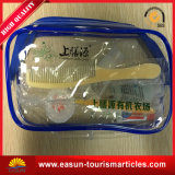 Curso de PVC transparente de fábrica Lazer saco cosméticos