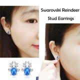 De Juwelen van de manier om de Oorringen van de Nagel van de Diamant van 5mm CZ voor Vrouwen