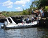 Liya 22ft barcos costela de fibra de barcos infláveis com barcos eléctrico