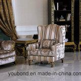 Presidenza classica di resto di legno solido Europ di disegno reale dorato di 0061