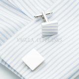 VAGULA Zilveren Geplateerde Vierkante Cufflink 701