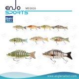 リアルなプラスチック釣魅惑の低音の餌のSwimbaitのマルチ接合された浅い人工的な釣り道具