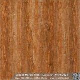 赤い木の建築材料の艶をかけられた大理石の磨かれた磁器の床タイル(VRP6D024)