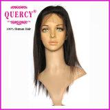 Nueva peluca llena peruana popular del cordón del pelo recto del pelo de la Virgen del ser humano del 100%