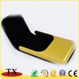 Vierecks-Form-Leder-Geschäft Cardcase mit Deckel-und Leder-Metallnamenskartenhalter