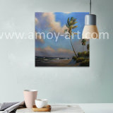 High Quality Handmade Beach and Tree Landscape Oil Painting for Home Decoration