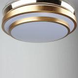 2018 визирной линии золотой внутренней декоративной потолочный вентилятор с подсветкой