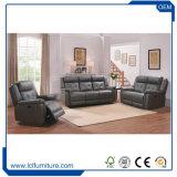 Insieme adagiantesi superiore moderno di vendita caldo del sofà del cuoio di grano di modo