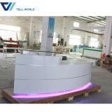 Compteur rond de réception de marbre d'éclairage LED de meubles d'hôtel