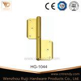 Bisagra de cobre amarillo de la mini curva de la cabina con la pista de corona (HG-1046-1)