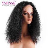 180% 조밀도 Virgin 사람의 모발 흑인 여성을%s Malaysian 꼬부라진 레이스 정면 가발