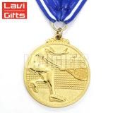Medalha escovada da concessão do metal da amostra livre esporte feito sob encomenda barato