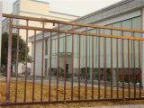 Simple personnalisé industriels ou résidentiels de clôtures à dessus plat en acier galvanisé