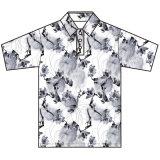 Camicia di polo di stampa di sublimazione del poliestere di modo degli uomini su ordinazione della Cina
