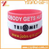 Braccialetto impresso personalizzato del silicone di marchio per i regali di sport