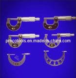 micrometro esterno di 4-Key Digitahi con il blocco per grafici d'acciaio verniciato