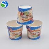 Tazza di carta stampata marchio su ordinazione all'ingrosso del gelato per il gelato